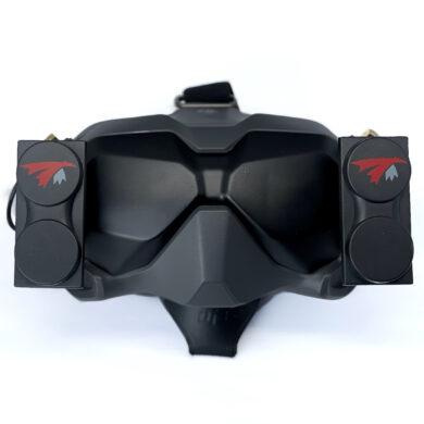 DJI FPV Goggle headset with two X-Air 5.8 MK II