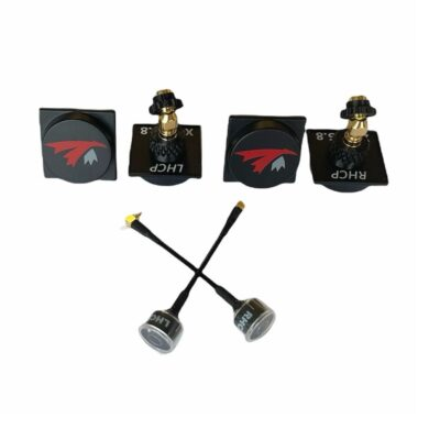 """5.8 GHz LHCP and RHCP """"X"""" antenna set for DJI FPV by TrueRC Canada"""